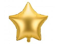 Folijas balons zvaigzne, zelta,  satīna, 47cm