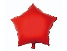 Folijas balons zvaigzne, sarkana, spīdīga, 48cm