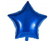 Folijas balons zvaigzne, zila, tumši, spīdīga, 48cm