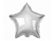 Folijas balons zvaigzne, sudraba, spīdīga, 48cm