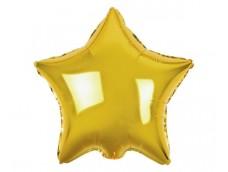 Folijas balons zvaigzne, zelta, spīdīga, 48cm