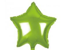 Folijas balons zvaigzne, zaļa, gaiši, spīdīga, 48cm