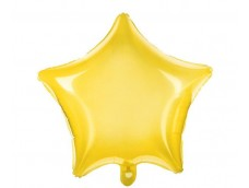 Folijas balons zvaigzne, dzeltena, caurspīdīga, 47cm