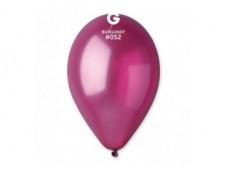 Baloni 26cm, pērļu, sarkanvīna, GEMAR, 100 gab.