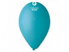 Baloni 29cm, zili, tirkīza, GEMAR, 100 gab.
