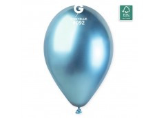Baloni metāliski, hroma, zili, GEMAR, 33 cm