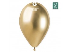 Baloni metāliski, hroma, zelta, GEMAR, 33cm