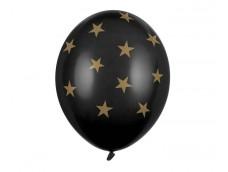 "Baloni ""Zvaigznes, melnas, zelta"", Belbal, pastel, 29cm"