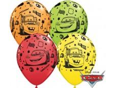 "Baloni Mašīnas ""Lightning McQueen & Mater"", QUALATEX, 29cm"