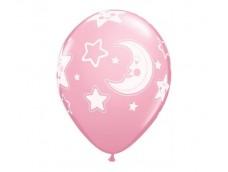 Baloni mazuļiem - Mēnestiņš un zvaigznītes, QUALATEX, 29cm