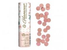 Konfeti, 15cm - rozā zelta folijas apļi