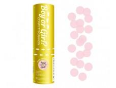 Konfeti, 15cm - meitene, gaiši rozā papīra apļi