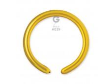 Baloni figūru veidošanai GEMAR DM4 - 100 gab. pērļu, zelta