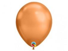 Baloni metāliski, hroma, vara, Qualatex, 29cm