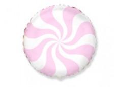 Folijas balons 45cm, Konfekte, rozā