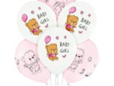 "Baloni 29cm, Mazuļiem ""BABY GIRL"", meitene, Belbal, 29cm"