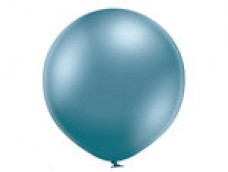 Baloni metāliski, hroma, zili, Belbal, 60 cm, XL