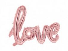 "Folijas balons - ""Love"", rozā zelta"