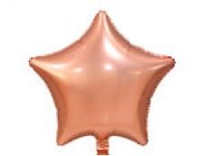 Folijas balons zvaigzne, zelta, rozā, vara, matēta, 48cm