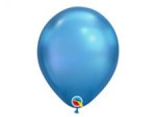 Baloni metāliski, hroma, zili, Qualatex, 29cm