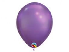 Baloni metāliski, hroma, lillā, Qualatex, 29cm