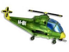 Folijas balons 60cm - Flexmetal, Helikopters, zaļš