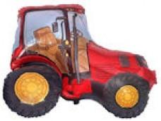 Folijas balons 60cm - Flexmetal, Traktors, sarkans