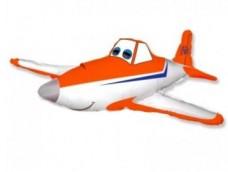 Folijas balons 60cm - Flexmetal, Smaidošā lidmašīna