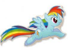 """Folijas balons 60cm - Flexmetal, MLP """"Rainbow Dash"""" - varavīksnes"""