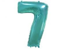 Folijas balons 96cm XXL - cipars 7 tiffany