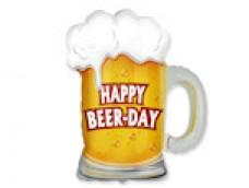 """Folijas balons 60cm - Flexmetal, alus kauss ar uzrakstu """"Happy Beer Day"""""""