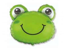 """Folijas balons 60cm - Flexmetal, Varde, """"Frog Head"""" (iepakojumā)"""