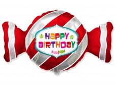 "Folijas balons 60cm - Flexmetal, Kofekte, ""Sweet Candy"" sarkana"