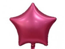 Folijas balons zvaigzne, rozā, tumši, matēta, 48cm