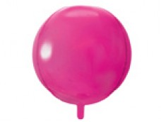 Folijas balons 40cm XL - bumba, rozā, tumši
