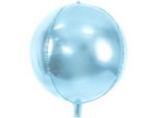 Folijas balons 40cm XL - bumba, zila, gaiši