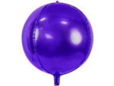 Folijas balons 40cm XL - bumba, violeta