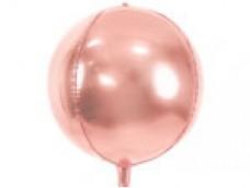 Folijas balons 40cm XL - bumba, rozā zelta
