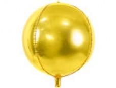 Folijas balons 40cm XL - bumba, zelta
