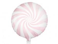 Folijas balons 45cm, Konfekte, rozā, lašu