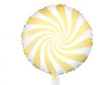 Folijas balons 45cm, Konfekte, dzeltena