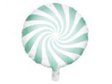 Folijas balons 45cm, Konfekte, zaļa