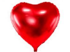 Folijas balons sirds, sarkana, 61cm