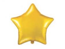 Folijas balons zvaigzne, zelta, matēta, 48cm