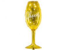 Follijas balons 80 cm - šampanieša glāze