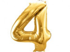 Folijas balons 86cm XL - cipars 4, zelts