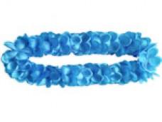 Hawaii ziedu virtene, zila - satīna