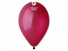 Baloni caurspīdīgi, sarkanvīna, Gemar, 29cm