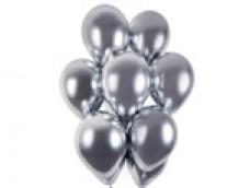 Baloni metāliski, hroma, sudraba, GEMAR, 33cm