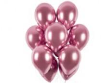 Baloni metāliski, hroma, rozā, GEMAR, 33 cm